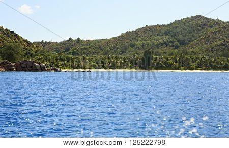 Beach Anse Georgette in the Praslin island.