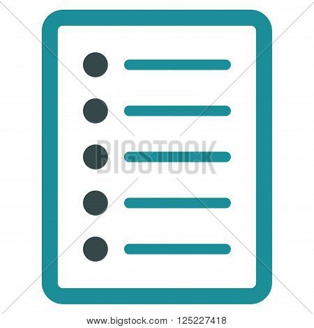 List Page vector icon. List Page icon symbol. List Page icon image. List Page icon picture. List Page pictogram. Flat soft blue list page icon. Isolated list page icon graphic.