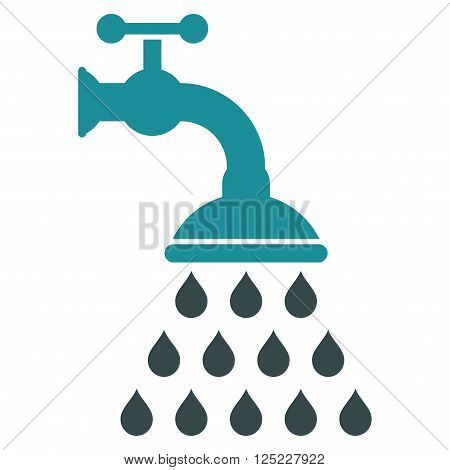 Shower Tap vector icon. Shower Tap icon symbol. Shower Tap icon image. Shower Tap icon picture. Shower Tap pictogram. Flat soft blue shower tap icon. Isolated shower tap icon graphic.