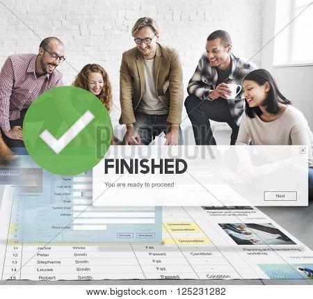 Finished Achievement Aim Goal Ready Success Concept