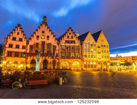 Frankfurt old town sunset. Germany