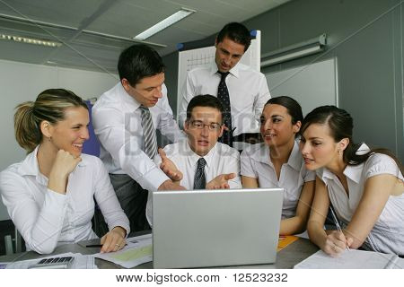 Group of people in a work meeting