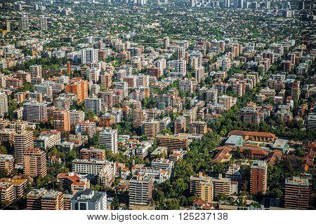 Panoramic View Of Santiago De Chile