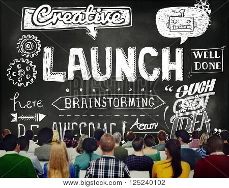 Launch Start up Inspiration Creative Sketch Concept