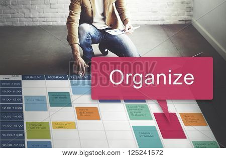 Organize Design Resource System Manual Concept