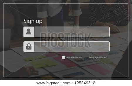 Sign Up Account Member Subscribe Registration Concept
