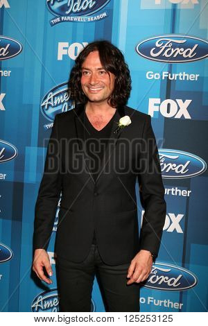 LOS ANGELES - APR 7:  Constantine Maroulis at the American Idol FINALE Arrivals at the Dolby Theater on April 7, 2016 in Los Angeles, CA