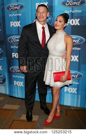 LOS ANGELES - APR 7:  John Cena, Nikki Bella at the American Idol FINALE Arrivals at the Dolby Theater on April 7, 2016 in Los Angeles, CA