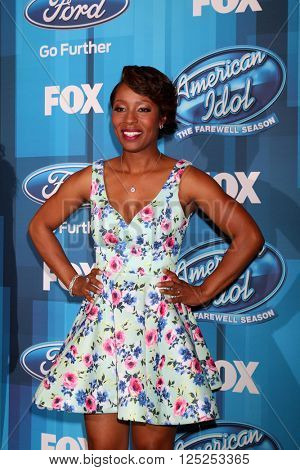 LOS ANGELES - APR 7:  LaToya London at the American Idol FINALE Arrivals at the Dolby Theater on April 7, 2016 in Los Angeles, CA