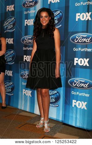 LOS ANGELES - APR 7:  Tristan McIntosh at the American Idol FINALE Arrivals at the Dolby Theater on April 7, 2016 in Los Angeles, CA