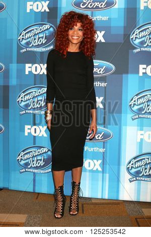 LOS ANGELES - APR 7:  Tamyra Gray at the American Idol FINALE Arrivals at the Dolby Theater on April 7, 2016 in Los Angeles, CA