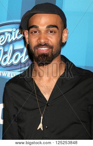 LOS ANGELES - APR 7:  Sanjaya Malakar at the American Idol FINALE Arrivals at the Dolby Theater on April 7, 2016 in Los Angeles, CA