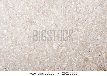 granulated sugar as a background close-up macro.