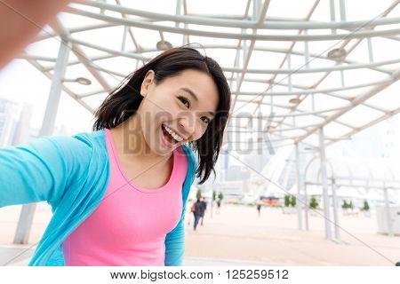 Woman take self image
