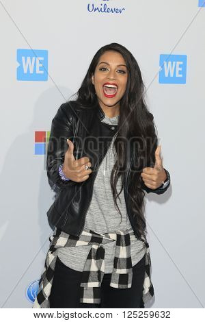 LOS ANGELES - APR 7:  Lilly Singh at the WE Day California 2016 at the The Forum on April 7, 2016 in Inglewood, CA