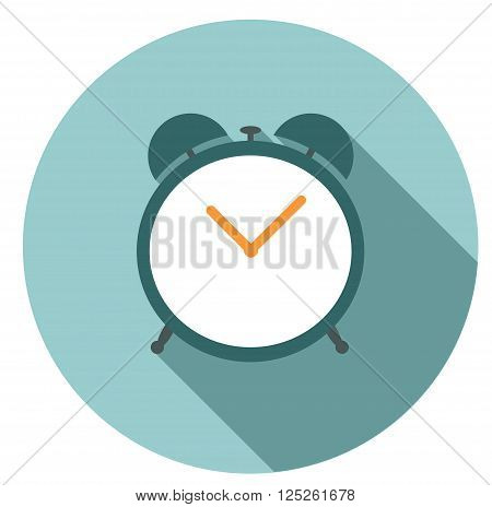 Isolated vector alarm clock icon with shadow