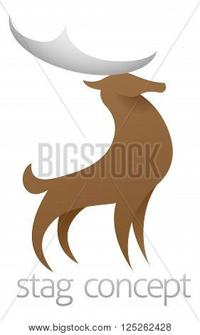 Stylised Stag Deer