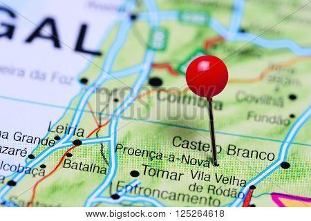 Proenca-a-Nova pinned on a map of Portugal