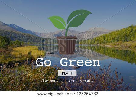 Go Green Gardening Conservation Environmental Concept