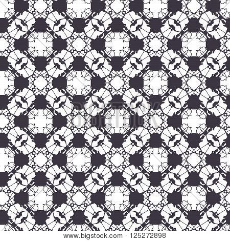 Lace vector seamless pattern, tiling. Endless rhombus texture for printing onto fabric and wrapping paper or scrap booking. Geometric pattern for wedding design