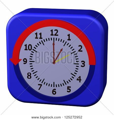 Concept - Daylight Saving Time Ends, isolated on white background. 3D rendering.