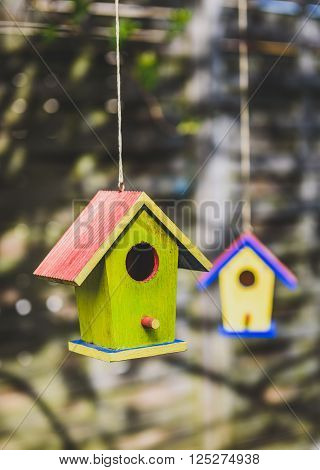 background, bird, birdhouse, birds, blue, box, color, colorful, construction, craft, creative, decoration, decorative, DIY, dots, garden, green, grunge, habitat, handmade, hang, hanging, heart, home, house, houses, made, natural, nature, nest, painted, ro