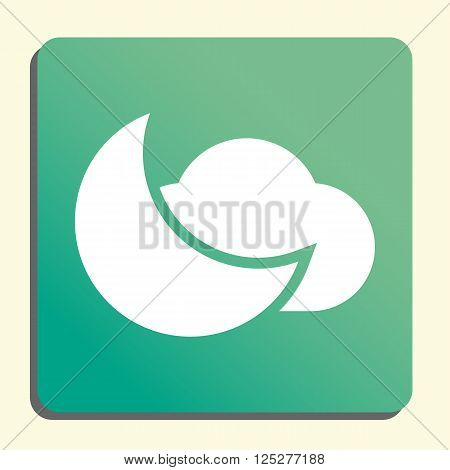 Cloud Moon Icon In Vector Format. Premium Quality Cloud Moon. Web Graphic Cloud Moon Sign On Green L