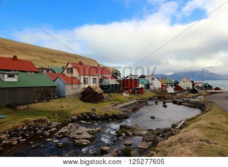 The nature of the Faroe Islands on a summers day in the north Atlantic