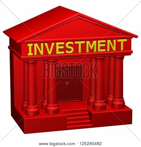 Concept : Investment, isolated on white background. 3D rendering.