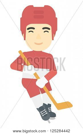 Ice-hockey male player.