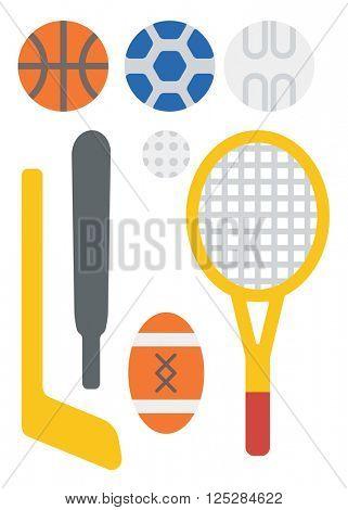Variety of sports equipment.