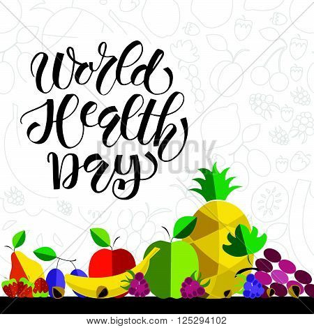 Hand Sketched Text 'world Health Day'