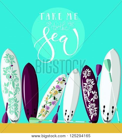 Take Me To The Sea Lettering Typography