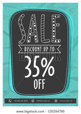Big Sale Flyer, Sale Banner, Sale Poster, Discount upto 35%.Vector illustration.