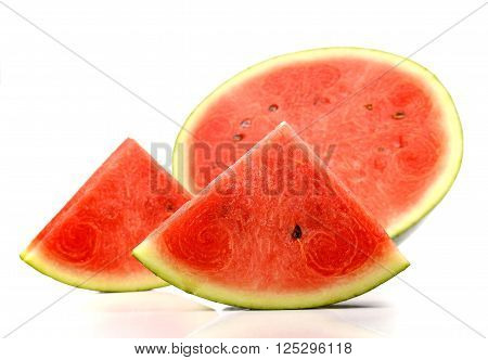 Watermelon Watermelon slice isolated on white background.