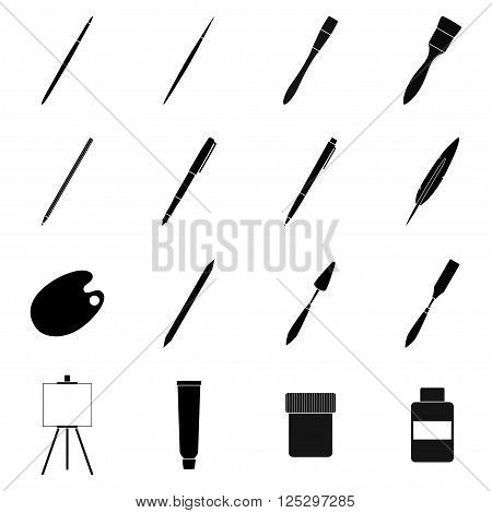 Set of tools for drawing and painting, vector illustration