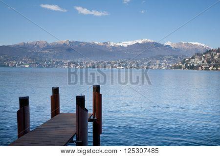 Lake in Switzerland.