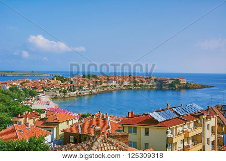 View on an Old City of Nessebar Bulgaria