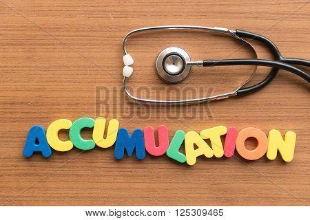 Accumulation Medical Word