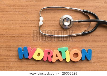Hydration Medical Word