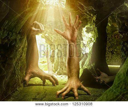 Strange human hands