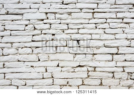 White stone wall texture or background
