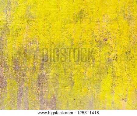A yellow cement wall texture