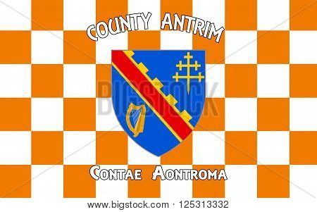 Flag of County Armagh (named after its county town Armagh) is one of six counties that form Northern Ireland and one of the 32 traditional counties of Ireland situated in the northeast of the island.