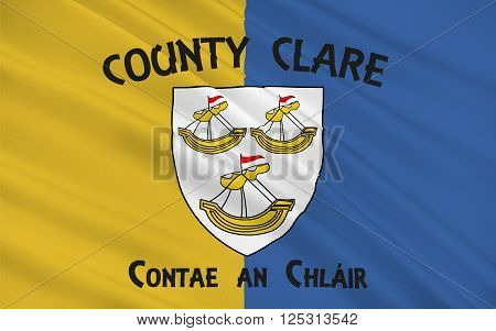 Flag of County Clare is a county in Ireland in the Mid-West Region and the province of Munster. Clare County Council is the local authority.