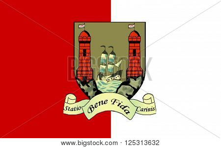 Flag of County Cork is the largest and southernmost county in Ireland. Located in the province of Munster it is named after the city of Cork. Cork County Council is the local authority for the county.