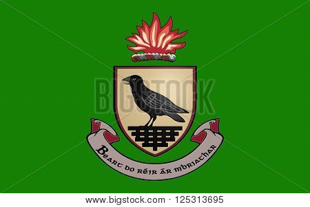 Flag County Dublin is a county in Ireland. It is conterminous with the Dublin Region and is in the province of Leinster