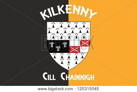 Flag Kilkenny is a city located in south-east part of Ireland and the county town of County Kilkenny