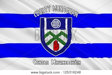 Flag of County Monaghan is a county in Ireland. It is part of the Border Region and is in the province of Ulster.