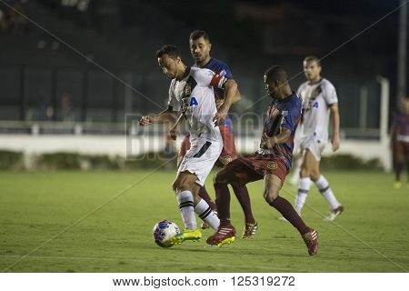 Rio de Janeiro Brasil - April 09 2016: Nene player in match between Vasco da Gama and Madureira by the Carioca championship in the S ** Note: Visible grain at 100%, best at smaller sizes